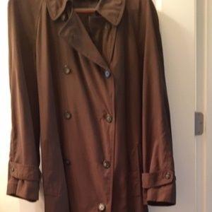 Ralph Lauren Microfiber/Wool Blend Trench Coat Men